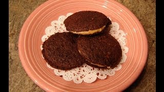 Chocolate & Peanut Butter Sandwich Cookies By Diane Love To Bake