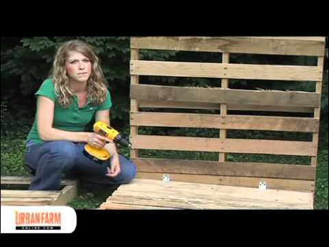 How To Build a Compost Bin from Wooden Pallets - UrbanFarmOnline.com ...