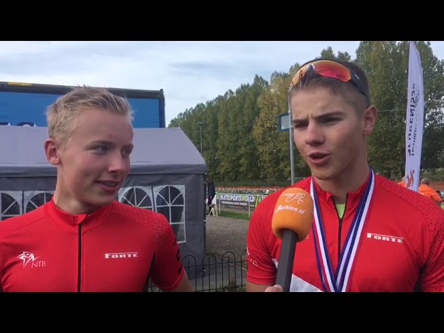 Niels van Lanen en Joey van 't Verlaat pakken Nederlandse titels duathlon
