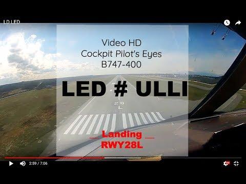 Cockpit | Landing ✈ ST-PETERSBURG ( LED / ULLI ) RUSSIA ✈ B744 - RWY28L [HD]