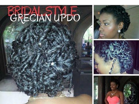 Grecian Natural Hair Style