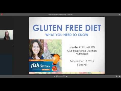 Ask-the-Dietitian Webinar - Gluten-Free Diet: What You Need to Know
