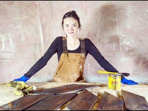 DIY Rustic Wood Chevrons