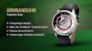 Armbanduhr Tropische Zone Sammeln Seltenes Weltmünzen