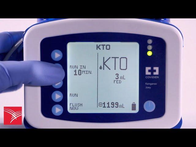 Using the Keep Tube Open (KTO) feature of the Kangaroo™ Joey Enteral Feeding Pump