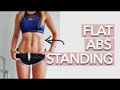 Standing Abs Workout 10 MINUTE FAT BURN