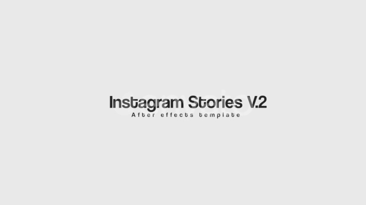 instagram stories video template after effects template youtube. Black Bedroom Furniture Sets. Home Design Ideas