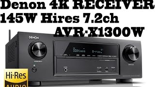 denon HIFI 4K RECEIVER - 145W Hires 7.2ch - 4K Ultra HD AVR-X1300W comparison with AVR-X520BT