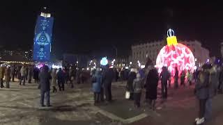 """Владивосток Световое шоу """"Новогоднее путешествие"""".Vladivostok light show"""