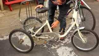 Folding Adult Trike - 1970s Vista 3-Wheel Bicycle - NIDA - BikemanforU Bike Check