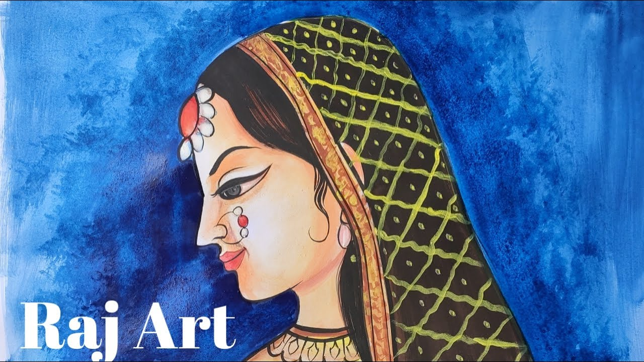 Easy steps to draw girl face tutorial || Indian women drawing step by step very easy for beginners