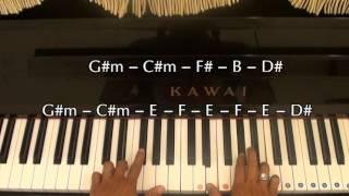 Vệt nắng cuối trời - Hoàng Bách | Hướng dẫn | #Piano đệm hát