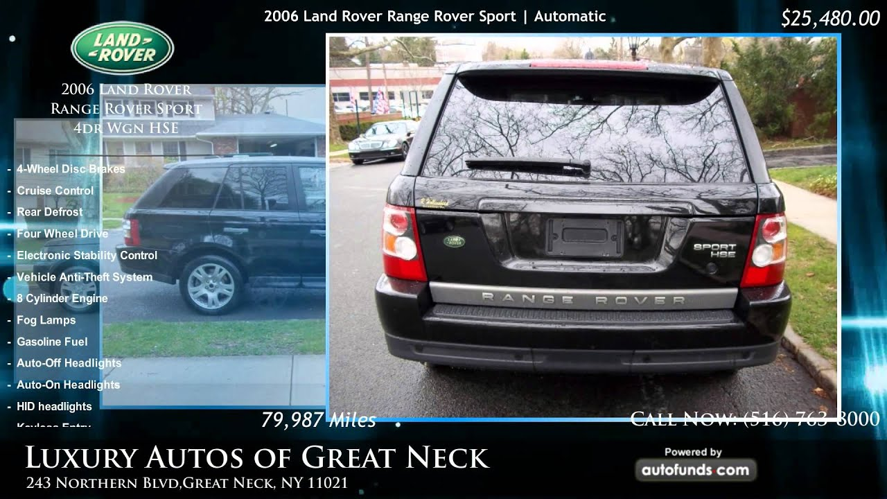 used 2006 land rover range rover sport luxury autos of great neck great neck ny sold youtube. Black Bedroom Furniture Sets. Home Design Ideas