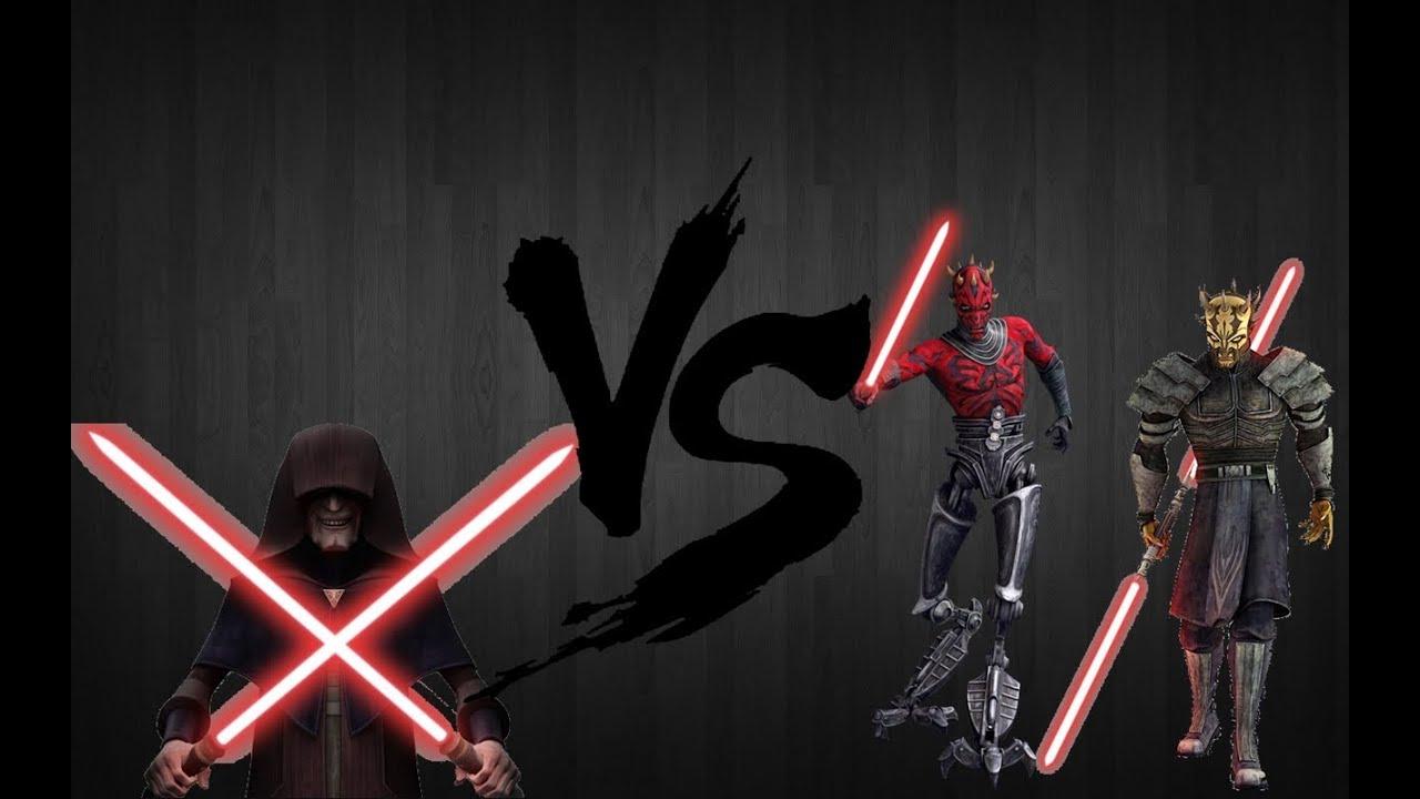 Star Wars The Clone Darth Sidious Vs Maul Savage Opress HD
