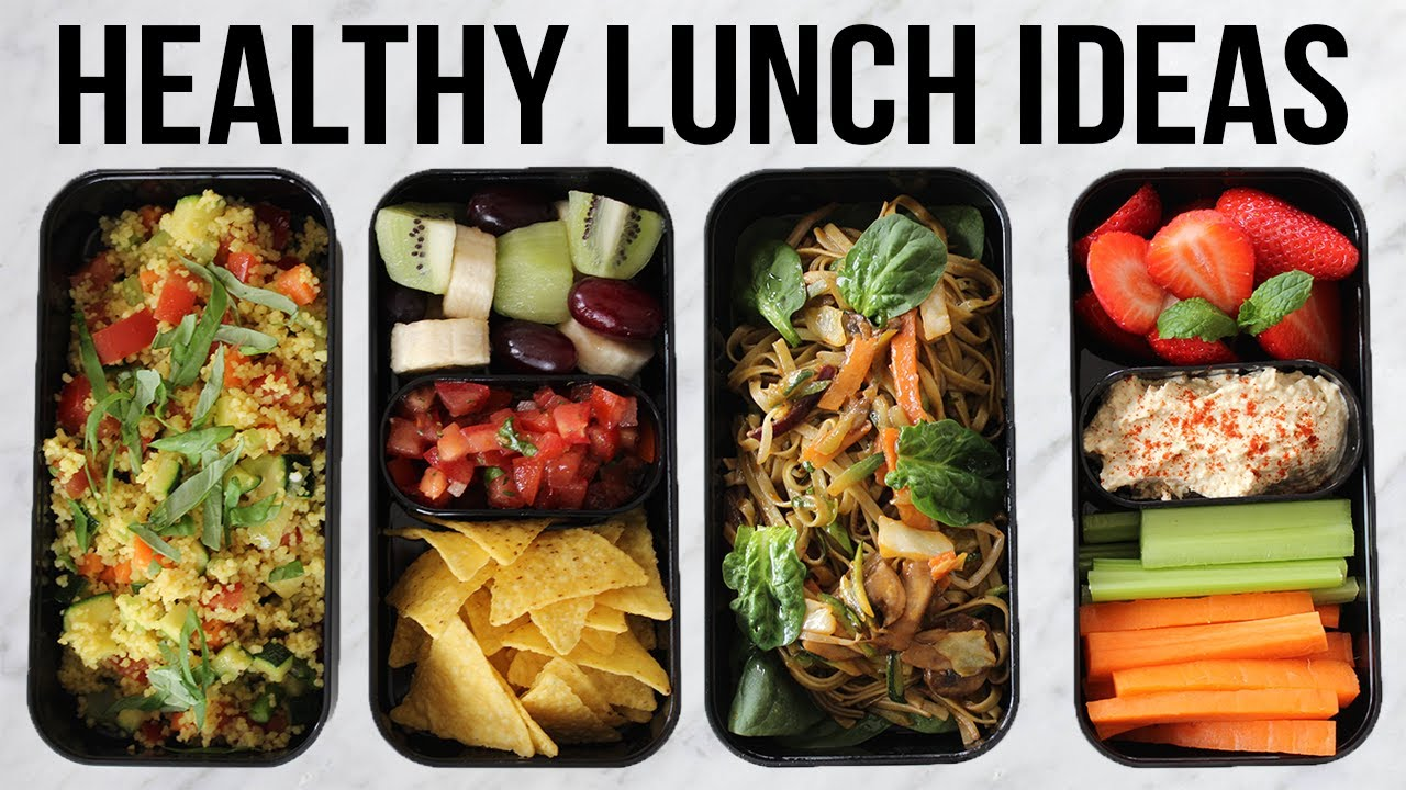 healthy vegan lunch ideas for school and for work quick and easy