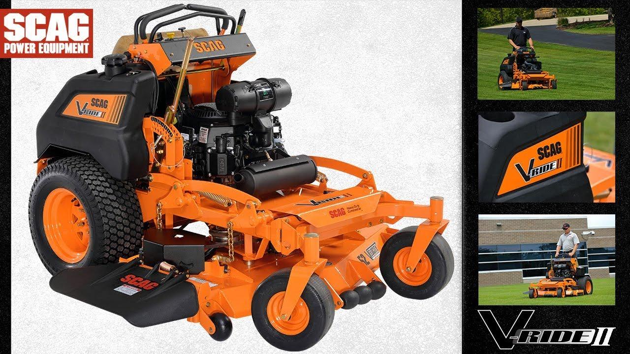 V-Ride II Stand On Zero-Turn Rider - Scag Power Equipment