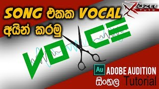 Remove voice and make KARAOKE/INSTRUMENTAL of any song [Adobe Audition Sinhala Lesson 2]