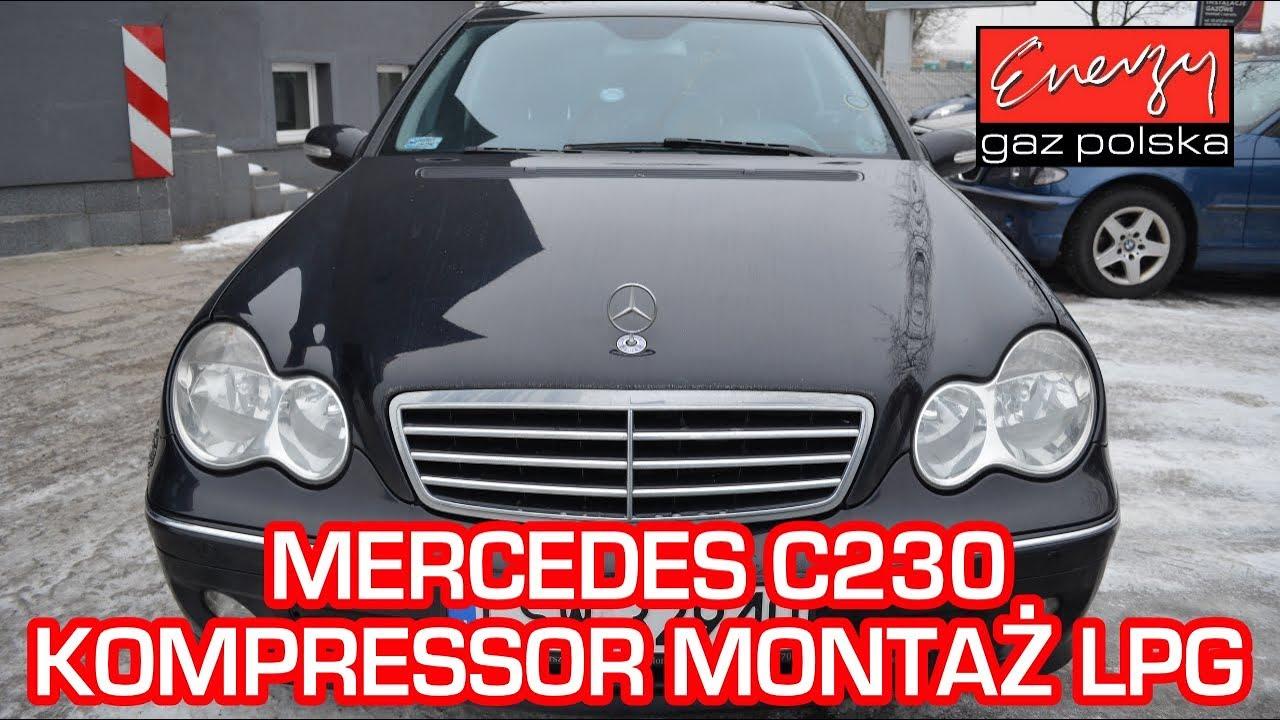 Montaż LPG Mercedes C230 Kompressor 1.8 192KM 2004r w Energy Gaz Polska na auto gaz BRC