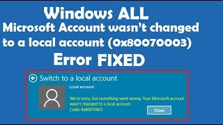 Error 0X80070003 Outlook