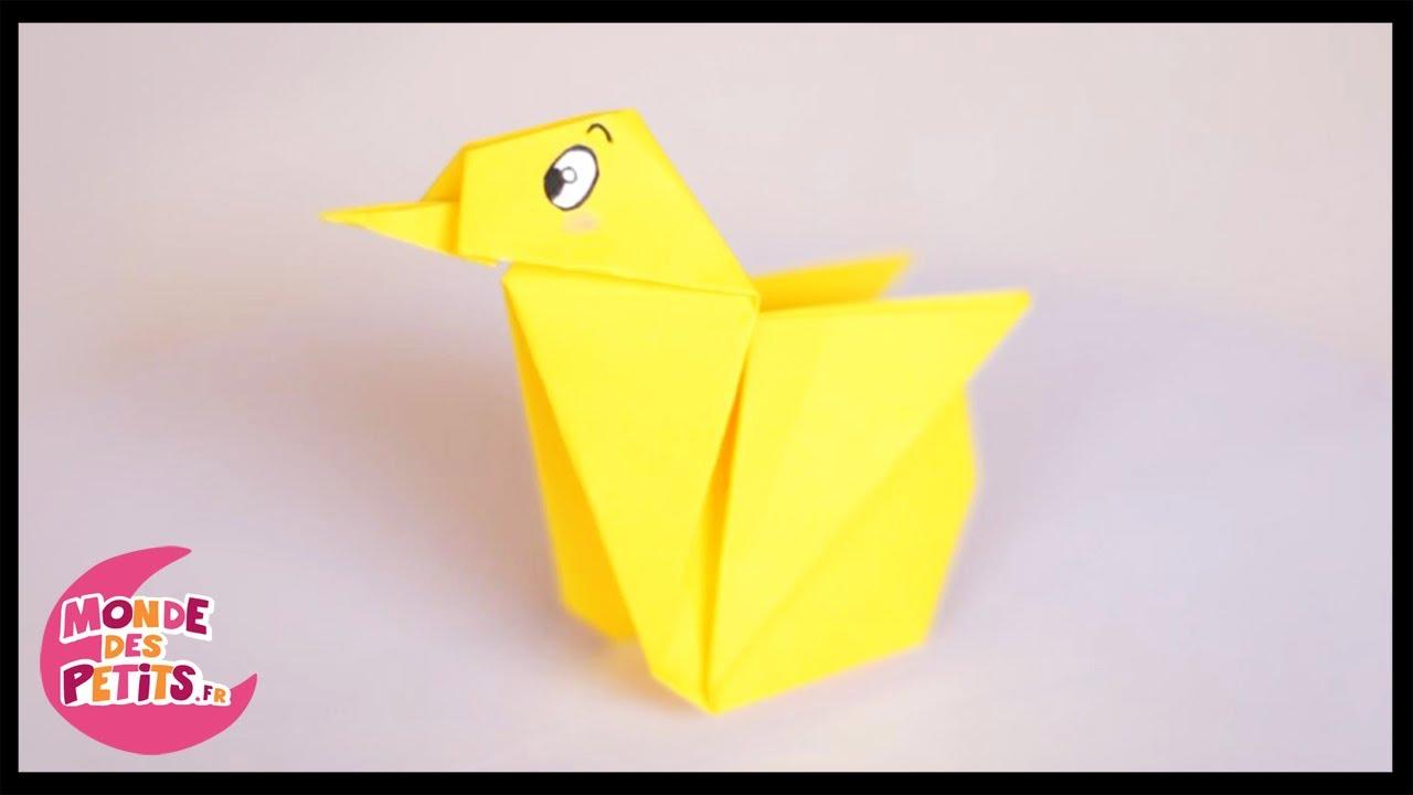 Papercraft Origami: le poussin en papier