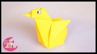 Origami: le poussin en papier