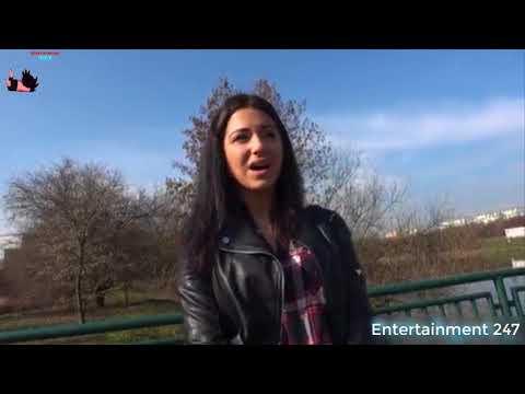 Russian waitress fucked outside in public