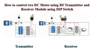 How to control two DC Motor using RF Transmitter and Receiver Module using DIP Switch