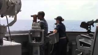 USS Kidd Sailors Keep Watch During MH370 Search