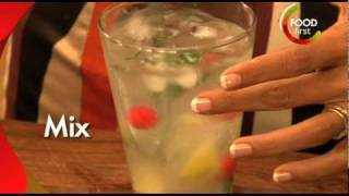 How To Make Litchi Lemon Fizz - Refreshing Cool Drink - Quick Easy - For Kids