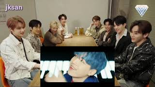 SEVENTEEN reaction to BTS - 'BOY WITH LUV' MV