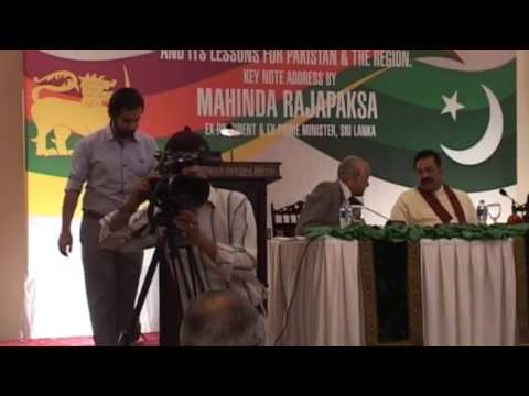 Sri Lanka's Struggle for Peace and its Lessons for Pakistan --- Mahinda Rajapaksa