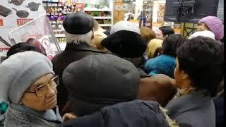 давка в гипермаркете Оренбурга