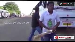 காவிரி தண்ணி இல்லையா, கோபத்தில் கர்நாடக பேருந்துகளை அடித்துநொறுக்கும் நபர்கள் - Cauvery | Karnataka