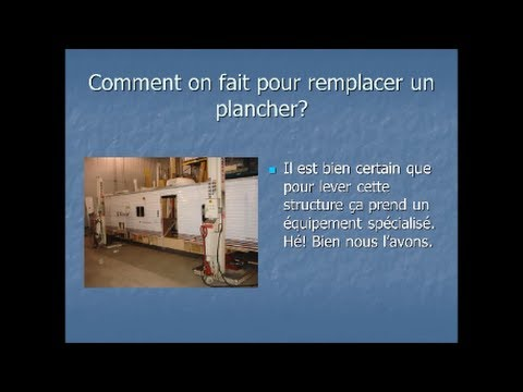 comment on refait un plancher de roulotte selon roulottes lupien 2000 youtube. Black Bedroom Furniture Sets. Home Design Ideas