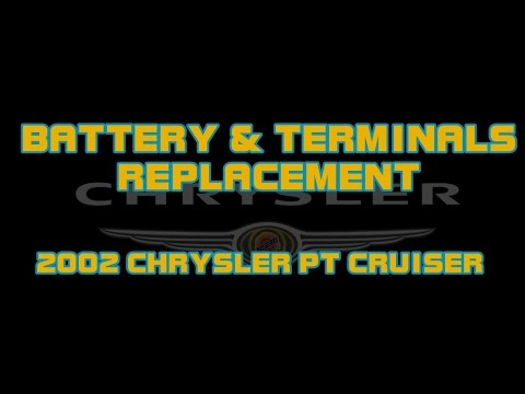 How To Change A Battery And Terminals 2002 Chrysler Pt Cruiser