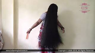 ILHW Rapunzel Neelima's Hair Brushing, Hair Flaunting & Self Hair Play With Calf Length Mane