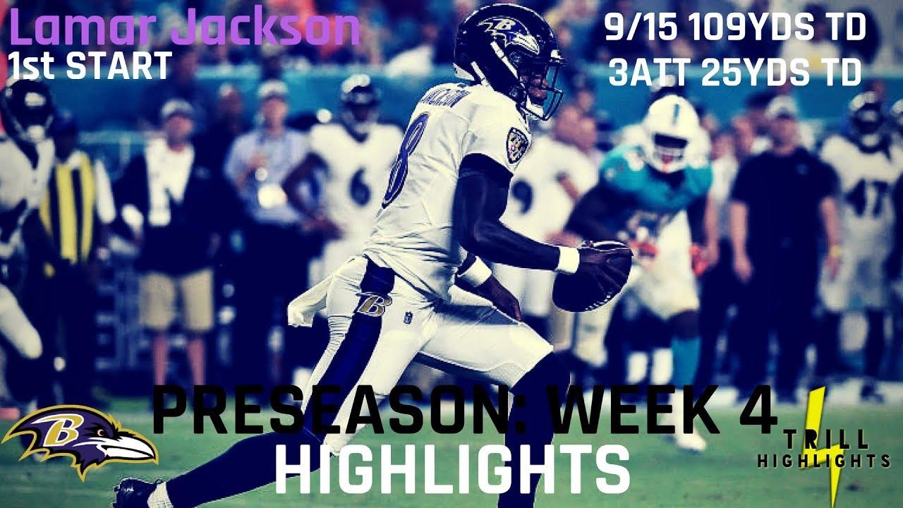 Lamar Jackson Preseason Week 4 Highlights   Development 08.30.2018