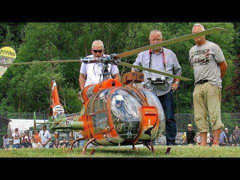 SA-341/342 GAZELLE HUGE RC SCAE MODEL TURBINE HELICOPTER DEMO FLIGHT PILOT BERND PÖTING