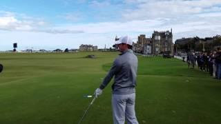 Rory McIlroy 18th Tee shot St Andrews atgolf.uk