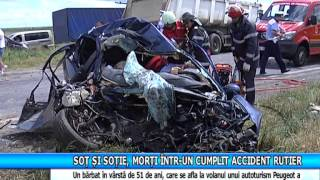 Soţ şi soţie, morţi într-un cumplit accident rutier