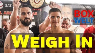 Tyron Zeuge vs Paul Smith - WEIGH IN and FACE TO FACE