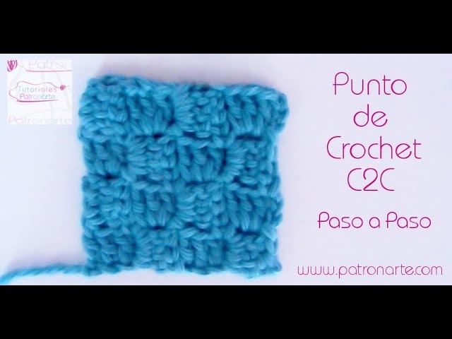 Punto de Crochet C2C Paso a Paso