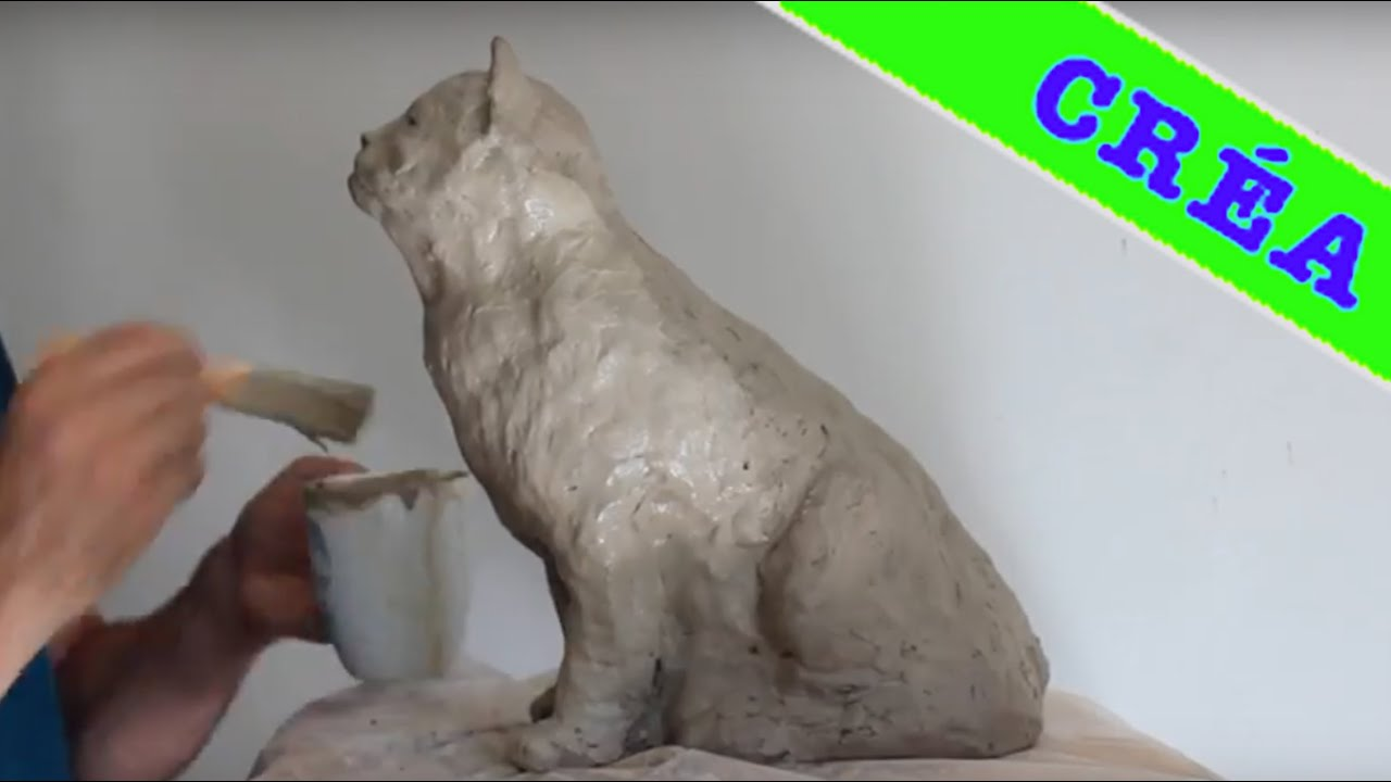 Sculpture Moderne Pas Cher Chat Sculpture En Argile Cat Speed Modeling