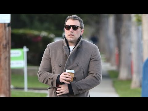 Ben Affleck Is Feeling The Shivers While Sipping His Morning Coffee
