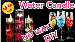 How to make Gel / water Candle at home | DIY |  candle light dinner |CHRISTMAS DECORATION