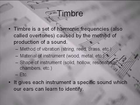 Note Characteristics: Pitch, Timbre, Tone, and Loudness