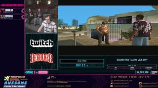 Grand Theft Auto: Vice City (Any% no SSU) - Restream PT-BR da AGDQ 2019!