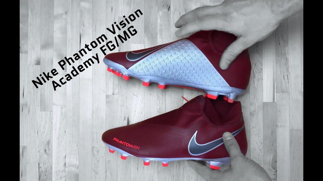 dbc961353b42 Nike Phantom Vision Academy FG/MG 'Team red/Mtlc dark grey'   UNBOXING    football shoes   2018