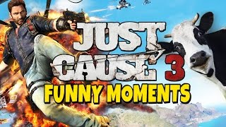 Just Cause 3 - Funny Moments - Yust Cows 3