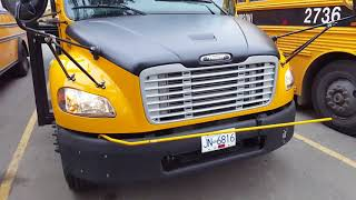 Thomas School Bus Checking Lights with Factory Programmed System